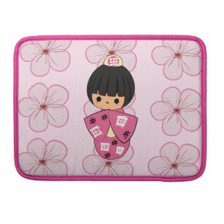 Kawaii Kokeshi Doll Macbook Pro sleeve