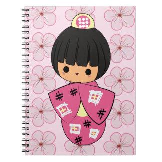 Kawaii Kokeshi Doll notebook