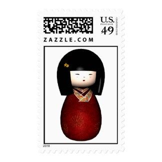 Kawaii Kokeshi Sukura Doll Postage