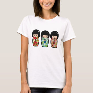 Kawaii Kokeshi Trio Japanese Doll Shirt