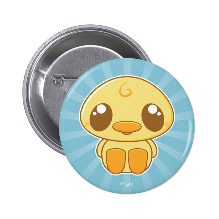 Kawaii Kuties - Lil' Yellow Duckie Pinback Button