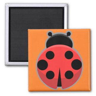 Kawaii Ladybug 2 Inch Square Magnet