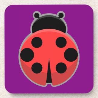 Kawaii Ladybug Beverage Coaster
