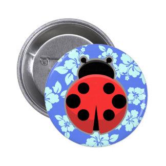 Kawaii Ladybug Button