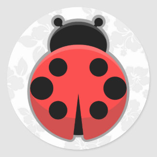 Kawaii Ladybug Classic Round Sticker