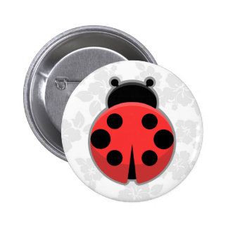 Kawaii Ladybug Pinback Button