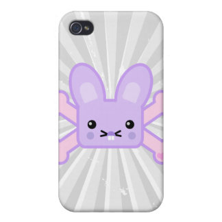 kawaii lavender crossbones bunny iPhone 4/4S cases