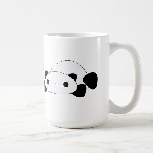 Kawaii lazy panda coffee mug