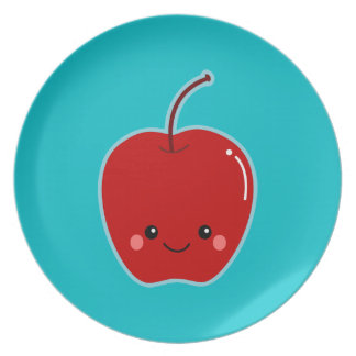 Kawaii lindo Apple Platos