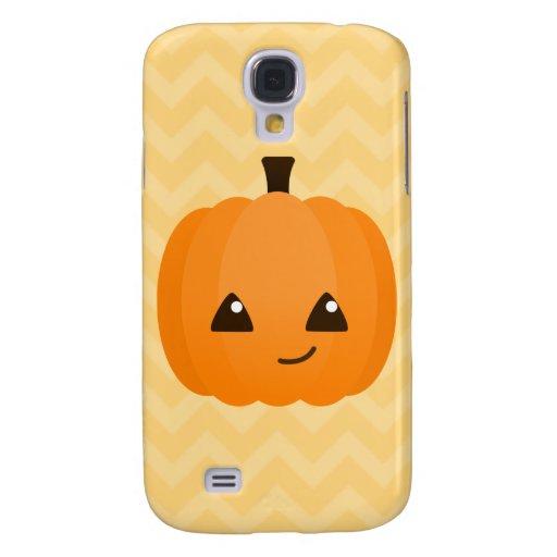 Kawaii lindo Jack o'Lantern Funda Para Galaxy S4