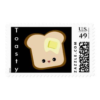 ¡Kawaii lindo Toasty! sellos de la tostada y de la