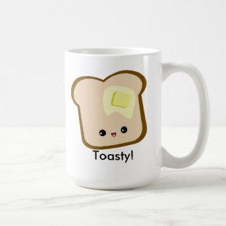 ¡Kawaii lindo Toasty! taza de la tostada y de la