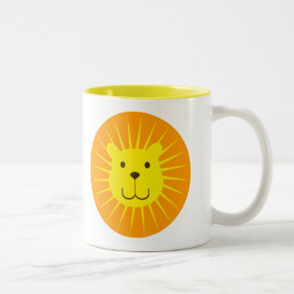 KAWAII LION SUNSHINE SWEETY Two-Tone COFFEE MUG