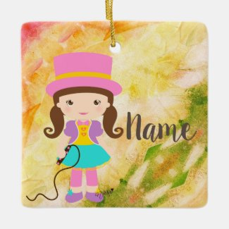 Kawaii Little Circus Girl Ornament