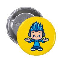 Kawaii Little Deej Pinback Button