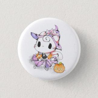 Kawaii little Witch Kitten Pinback Button