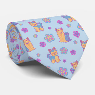 Kawaii Long and Short Hair Novelty Yorkie Tie