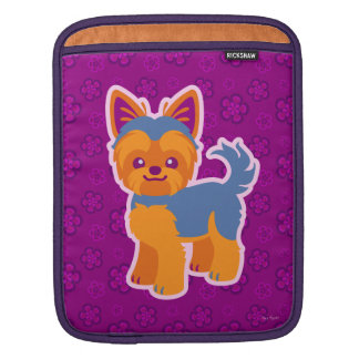 Kawaii Long and Short Hair Yorkie Cartoon Dogs Sleeve For iPads