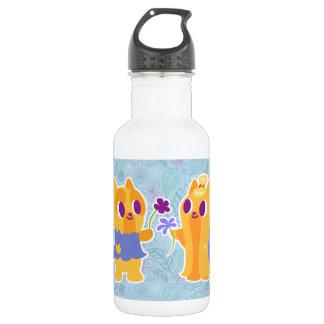 Kawaii Long and Short Hair Yorkie Cartoon Dogs Stainless Steel Water Bottle