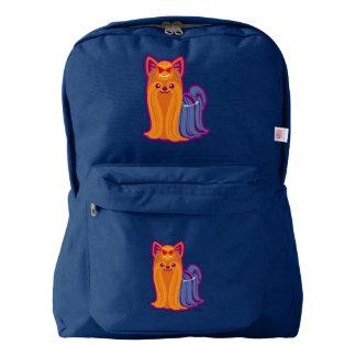 Kawaii Long Hair Yorkie Cartoon Dog American Apparel™ Backpack