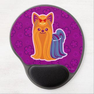 Kawaii Long Hair Yorkie Cartoon Dog Gel Mouse Pad