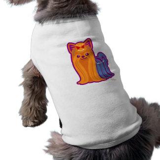 Kawaii Long Hair Yorkie Cartoon Dog Shirt