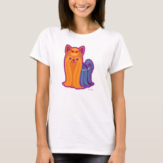 Kawaii Long Hair Yorkie Cartoon Dog T-Shirt