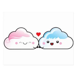 Kawaii Love Clouds Postcards