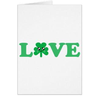 KAWAII LOVE SHAMROCK LUCKY IRISH GREETING CARDS
