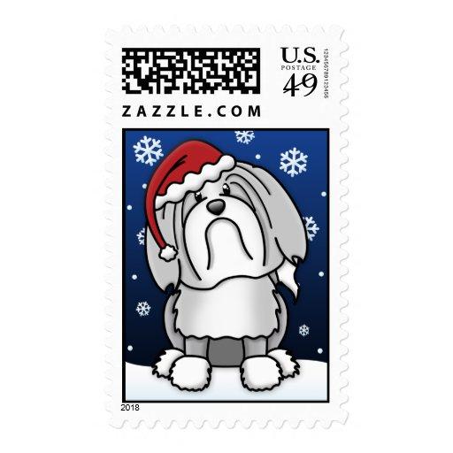 Kawaii Lowchen Christmas Stamps
