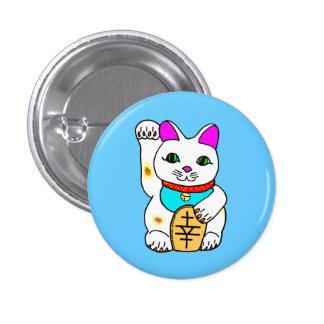 kawaii luckycat pinback button