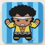 Kawaii Luke Cage Flexing Drink Coaster