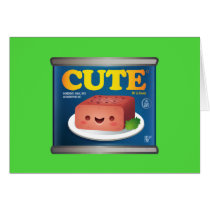 Kawaii Luncheon Meat Note Card