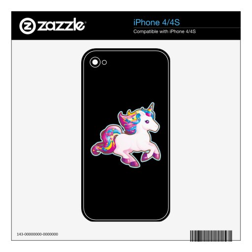 Kawaii Magical Candy Unicorn Decal For iPhone 4S