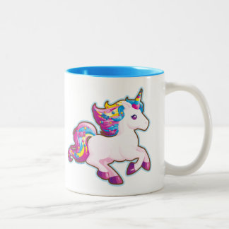 Kawaii Magical Candy Unicorn Two-Tone Coffee Mug