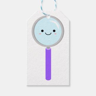 Kawaii magnifying glass gift tags