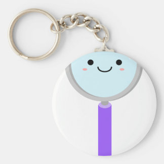 Kawaii magnifying glass keychain