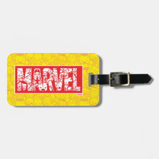 Kawaii Marvel Logo With Super Hero Pattern Bag Tag