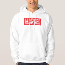 Kawaii Marvel Logo With Super Hero Pattern Hoodie