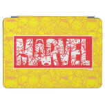 Kawaii Marvel Logo With Super Hero Pattern iPad Air Cover