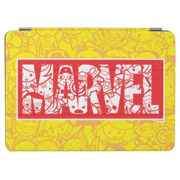 Beach Themed Kawaii Marvel Logo With Super Hero Pattern iPad Pro Cover