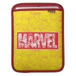 Kawaii Marvel Logo With Super Hero Pattern iPad Sleeve