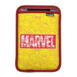 Kawaii Marvel Logo With Super Hero Pattern Sleeve For iPad Mini