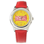Kawaii Marvel Logo With Super Hero Pattern Wrist Watch