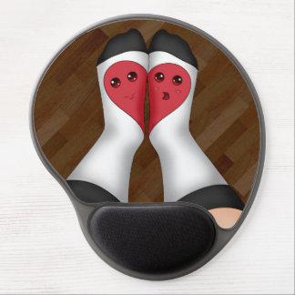 Kawaii Matching Socks Heart Gel Mousepads