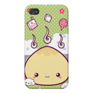 Kawaii Meat Bun iPhone 4 Case