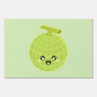 Kawaii Melon Lawn Sign