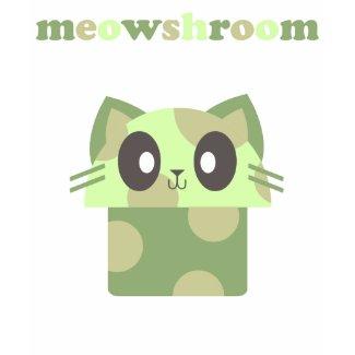 kawaii meowshroom kitty cat mushroom shirt