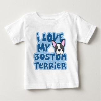 Kawaii mi Boston Terrier bebé de I amor Remeras