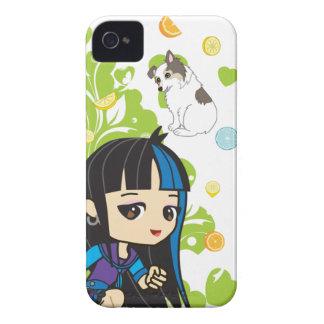 Kawaii Mika el chica punky Chibi 9700/9780 Carcasa Para iPhone 4 De Case-Mate